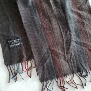 Dior Cashmere Scarf - Muted Color Stripes
